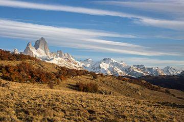 Ochtendlicht op berg Fitz Roy in Argentinië.  von