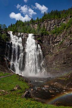 Skjervsfossen Waterval, Noorwegen van Adelheid Smitt