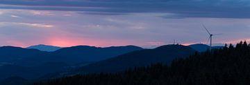 Sonnenuntergang im Schwarzwald | Deutschland | Panorama von Marianne Twijnstra-Gerrits