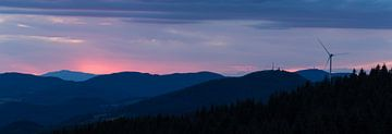 Zonsondergang in Schwarzwald | Duitsland |panorama van Marianne Twijnstra-Gerrits