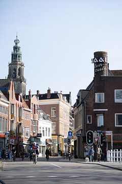 Martinitoren von der Ebbingebrug von Foto's uit Groningen