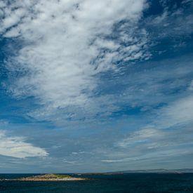 Wolken en zee in Ierland van Claudia Färber