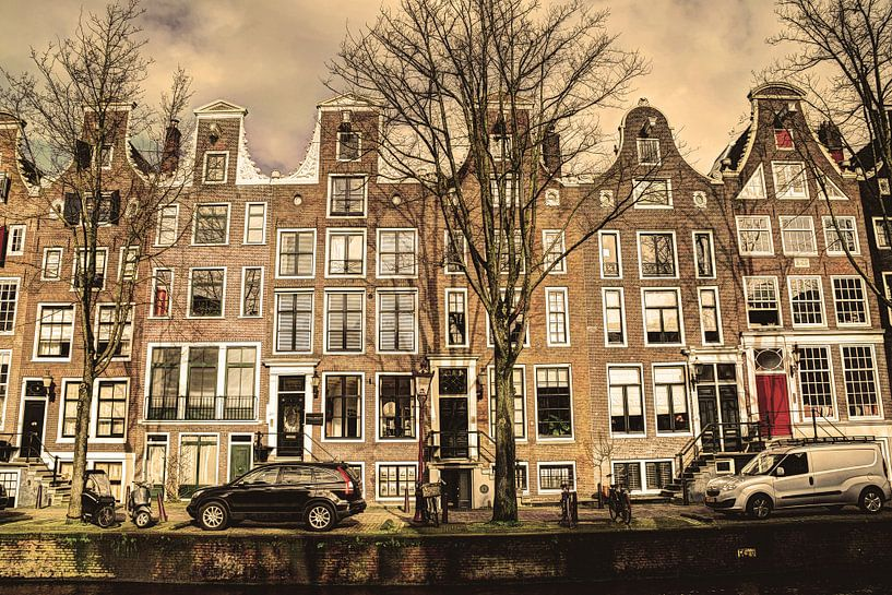 Binnenstad van Amsterdam in de Winter Oud van Hendrik-Jan Kornelis