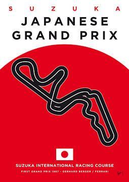 My F1 SUZUKA Race Track Minimal Poster van Chungkong Art