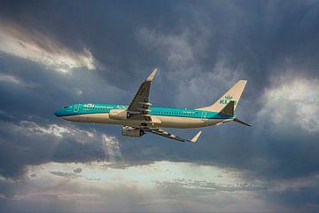 KLM PH BCK, Boeing 737-800, de Albatros van Gert Hilbink