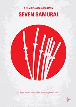 No200 My The Seven Samurai minimal movie poster van Chungkong Art