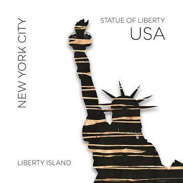 Urban Art NYC Freiheitsstatue von Melanie Viola