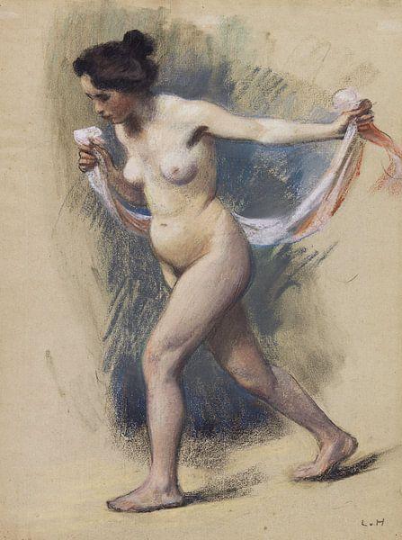 Tänzerin mit Schleier, LUDWIG VON HOFMANN, Um 1890 von Atelier Liesjes