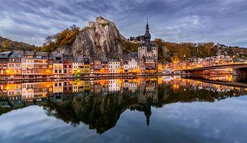 Avondlicht Dinant, Belgie von Mario Visser