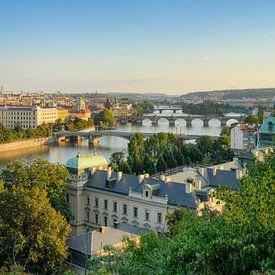 Vue sur Prague sur Michael Valjak