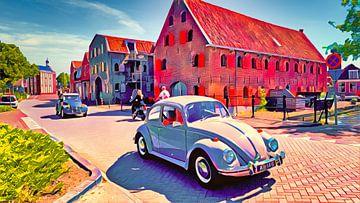 Volkswagen Kever en Lelijke Eend van Digital Art Nederland