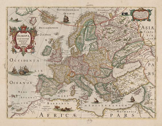 Europa exactissime descripta van Rebel Ontwerp