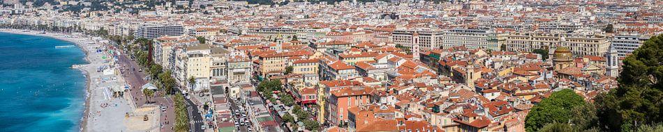 NICE Promenade des Anglais & Old Town | Panoramic van Melanie Viola