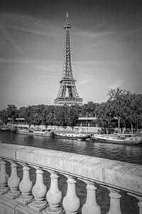 PARIS Eiffeltoren & Seine Monochroom