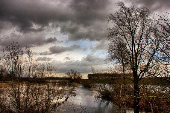 Overstroomd land