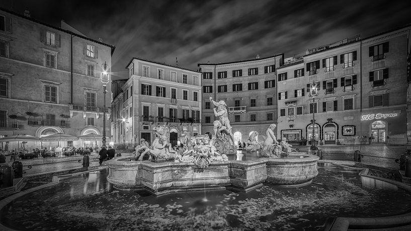 Rome - Fontana del Nettuno - Piazza Navona van Teun Ruijters
