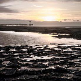 Scheveningen strand vanaf het Noorderstrand  van Bas Boterbloem
