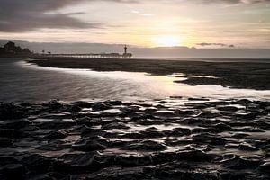 Scheveningen strand vanaf het Noorderstrand  van