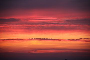 Zonsondergang vuur rode lucht van