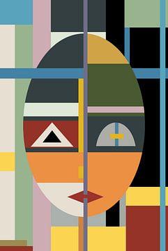 Face modern Art von Marion Tenbergen