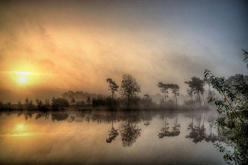 Zonsopkomst Vennengebied Turnhout Belgie