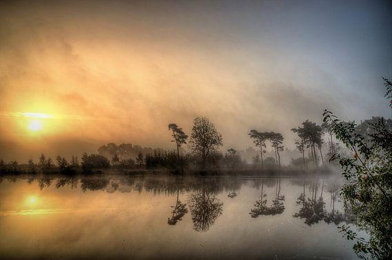 Zonsopkomst Vennengebied Turnhout Belgie van Watze D. de Haan
