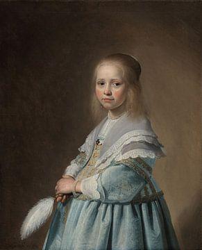Porträt eines Mädchens in Blau von Allerlei foto's