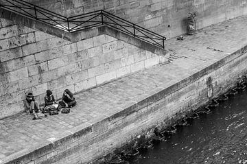 Uitblazen aan de oever van de Seine van