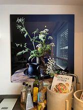 Klantfoto: Stilleven met fluitenkruit en tin op hout [verticaal] van Affect Fotografie, op staal