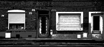 Französische Fassade, Mouvaux von Wouter Springer