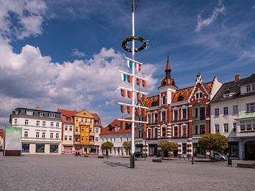 Marktplein in de oude binnenstad van Finsterwalde in Brandenburg van Animaflora PicsStock