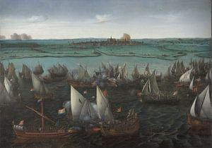 Battle between Dutch and Spanish Ships on the Haarlemmermeer, Hendrick Cornelisz Vroom