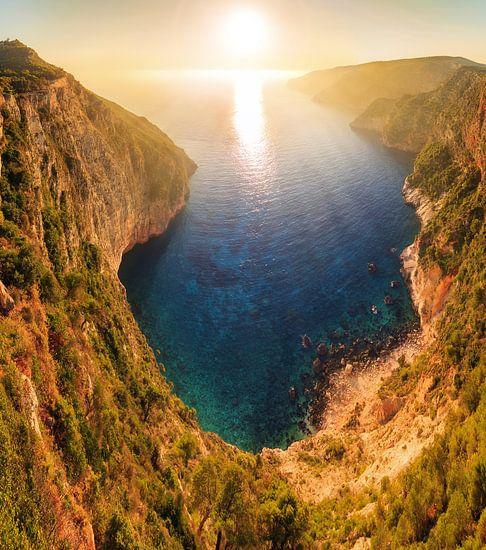 Kampi zonsondergang Zakynthos van Dennis van de Water
