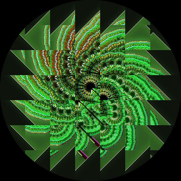 Green fractal van Leopold Brix