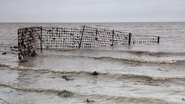 Gaaswerk in de Waddenzee bij Wierum van Dick Doorduin