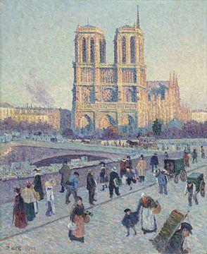 Der Quai Saint-Michel und Notre Dame, Maximilien Luce