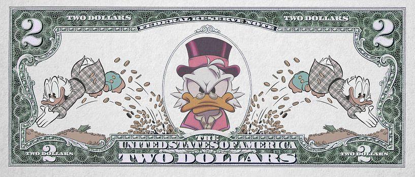 Dagobert Duck Geld von Rene Ladenius Digital Art