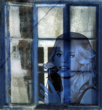 Hinter dem blauen Fenster von Christine Nöhmeier