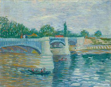 Die Seine mit der Pont de la Grande Jette, Vincent van Gogh