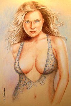 Traumgirl - erotischer weiblicher Halbakt von Marita Zacharias