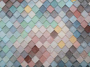 Mozaïek patroon van gekleurde vormen van Origami Art