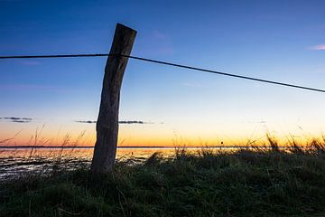 Sonnenaufgang am Wattenmeer auf der Insel Amrum von Rico Ködder