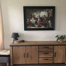 Klantfoto: Jan Steen - Het Dansende Paar, op canvas