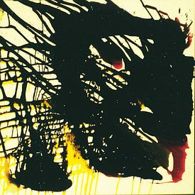 abstrakte Malerei Black limitierte Auflage 1-100 von lee eggstein