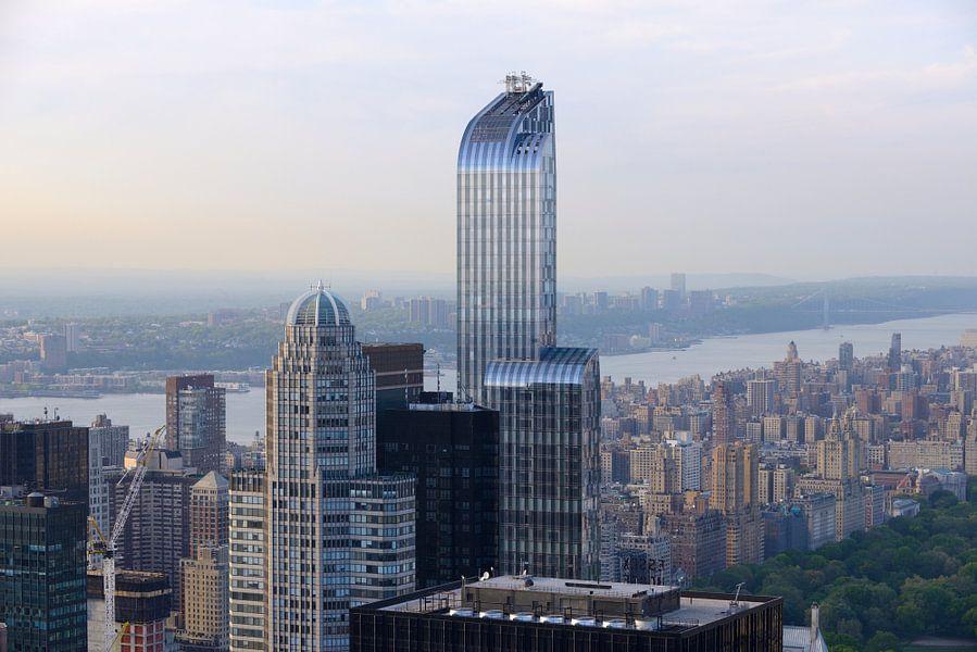 Manhattan met One57 ofwel The Billionaire Building gezien vanaf het Empire State Building