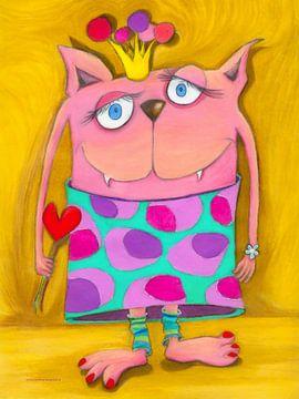 Vrouw VONUNDZU - Kunst voor Kinderen van Atelier BuntePunkt