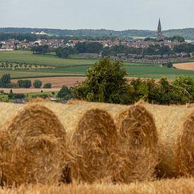 Strobalen in Zuid-Limburg van John Kreukniet
