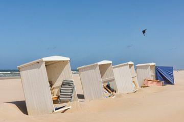 Strandhäuser in Katwijk aan Zee von Charlene van Koesveld