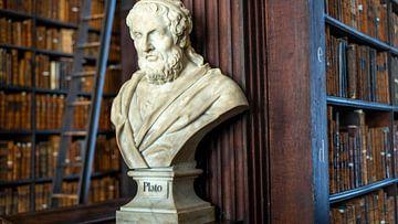 Büste der Platon Trinity College-Bibliothek von Terry De roode