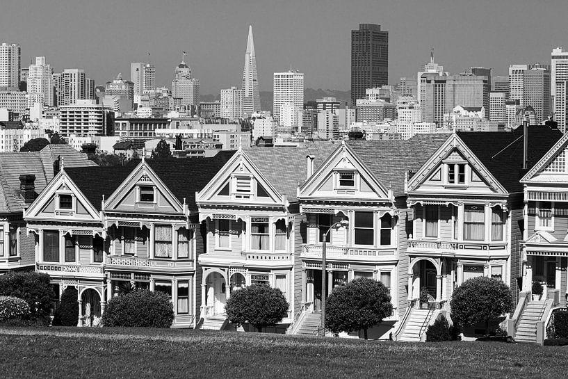 Painted Ladies, San Francisco, Kalifornien von Henk Meijer Photography
